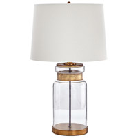 Cyan Design 08513 Bonita 27 inch 100 watt Clear and Gold Table Lamp Portable Light