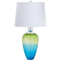 Cyan Design 08514 Puffer 32 inch 100 watt Green and Blue Table Lamp Portable Light