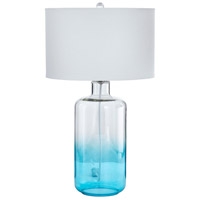 Cabra 29 inch 14 watt Blue and Clear Table Lamp Portable Light