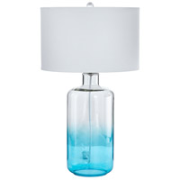 Cabra 29 inch 100 watt Blue and Clear Table Lamp Portable Light