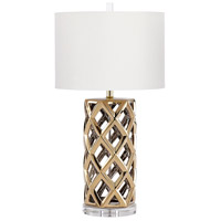 Cyan Design 08523 Baba 31 inch 100 watt Satin Brass Table Lamp Portable Light