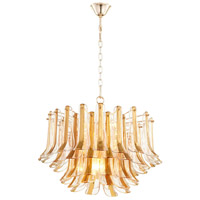 Cyan Design 08533 Camilla 8 Light 27 inch Gold Pendant Ceiling Light