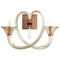 Cyan Design 08536 Amore 2 Light 21 inch Satin Copper Wall Bracket Wall Light