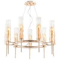 Balanchine 9 Light 29 inch Satin Gold Chandelier Ceiling Light