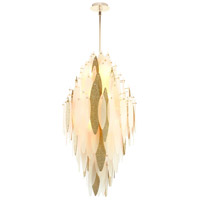Vega 10 Light 21 inch Satin Gold Pendant Ceiling Light