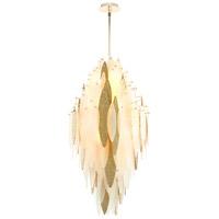 Cyan Design 08551 Vega 10 Light 21 inch Satin Gold Pendant Ceiling Light