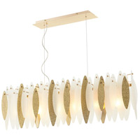 Vega 6 Light 46 inch Satin Gold Island Light Ceiling Light