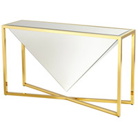 Titan 55 X 16 inch Polished Gold Console Table
