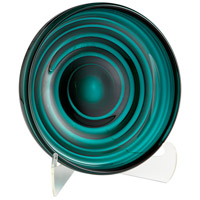 Cyan Design 08644 Vertigo Teal Plate, Small