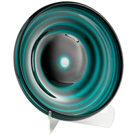 Cyan Design 08645 Vertigo Teal Plate, Medium