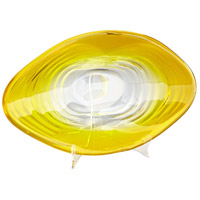 Cyan Design 08664 Ripple Effect 23 X 12 inch Yellow and Clear Plate, Small