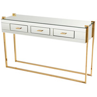 St. Clair 53 X 17 inch Aged Brass and Black Console Table
