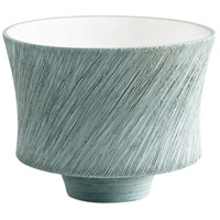 Selena Oyster Blue Slab Planter, Small