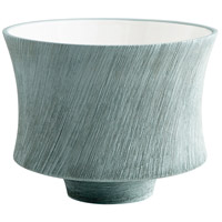 Selena Oyster Blue Slab Planter, Large