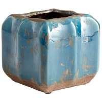 Redondo Blue Glaze Outdoor Planter, Large