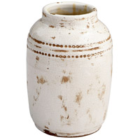 Aztec White Crackle Outdoor Planter, Small