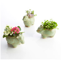 Cyan Design 08764 Friendly Cow Green Glaze Outdoor Planter alternative photo thumbnail