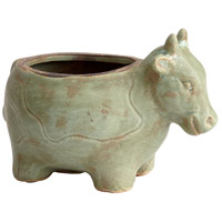 Cyan Design 08764 Friendly Cow Green Glaze Outdoor Planter photo thumbnail