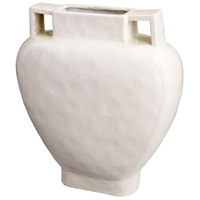Evelyn White Crackle Outdoor Planter, Large