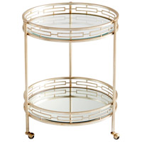 Gilded Meridian Antique Silver Bar Cart