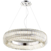 Beaming Around 8 Light 27 inch Chrome Pendant Ceiling Light