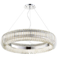Beaming Around 10 Light 32 inch Chrome Pendant Ceiling Light