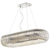 Beaming Around 8 Light 39 inch Chrome Pendant Ceiling Light