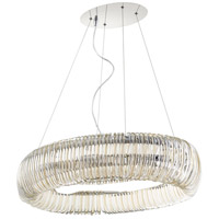 Beaming Around 8 Light 30 inch Chrome Pendant Ceiling Light