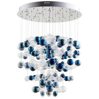 Cyan Design 08857 Champagne Circus 9 Light 34 inch Chrome Pendant Ceiling Light