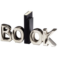 Cyan Design 08944 The Book 7 inch Nickel Bookends photo thumbnail