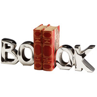 Cyan Design 08944 The Book 7 inch Nickel Bookends alternative photo thumbnail