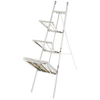 Easel Polished Nickel Magazine Rack