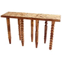 Post Up 56 X 17 inch Oak Console Table