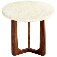 Archie 24 inch Brown and Ivory Side Table