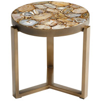 Sundance 17 inch Antique Brass Side Table