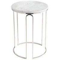 Metallic Tower 18 inch Polished Nickel Side Table