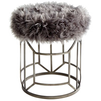 Cyan Design 09035 Ushanka Graphite and Grey Stool Home Decor