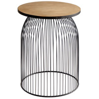 Bird Cage 24 inch Graphite and Natural Wood Stool