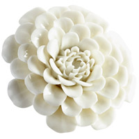 Flourishing Flowers Off White Glaze Wall Decor, Small