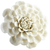 Cyan Design 09107 Flourishing Flowers Off White Glaze Wall Decor, Medium
