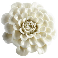 Flourishing Flowers Off White Glaze Wall Decor, Large