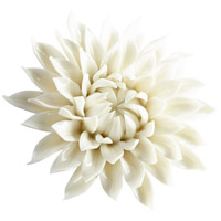 Blossoming Spring Off White Glaze Wall Decor, Medium