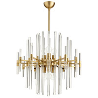 Quebec 6 Light 26 inch Aged Brass Pendant Ceiling Light, Large