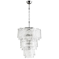Cascata 9 Light 21 inch Polished Nickel Pendant Ceiling Light, Medium