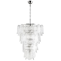 Cascata 15 Light 27 inch Polished Nickel Pendant Ceiling Light, Large