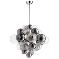 Valence 15 Light 26 inch Polished Nickel Pendant Ceiling Light, Small