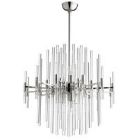 Cyan Design 09254 Quebec 6 Light 26 inch Polished Nickel Pendant Ceiling Light Large
