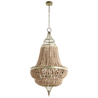 Delta 3 Light 25 inch Tinted Raw Iron Pendant Ceiling Light