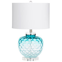 Cyan Design 09283 Ballard 24 inch 100 watt Teal Table Lamp Portable Light