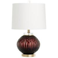 Cyan Design 09289 Denley 23 inch 100.00 watt Purple Table Lamp Portable Light in Bulb Not Included